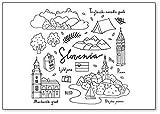 Slowenien handgezeichnete Symbole & Objekte Illustration Kühlschrankmagnet