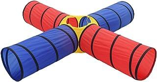Tidyard Spela tunnel barn 4-i-1 pop up-tunnel barn lektält för inomhus utomhusgåvor 250 x 250 x 48 cm