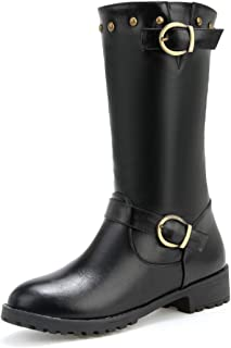 BalaMasa Womens ABS13879 Leather Boots