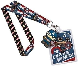 Funko Captain America Pop Lanyard Action Figure