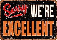 ごめんなさい メタルポスタレトロなポスタ安全標識壁パネル ティンサイン注意看板壁掛けプレート警告サイン絵図ショップ食料品ショッピングモールパーキングバークラブカフェレストラントイレ公共の場ギフト