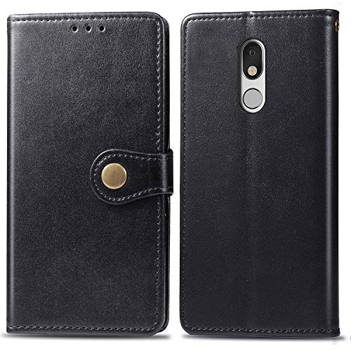Asuwish LG Stylo 5 Wallet Case,Leather Phone Cases with Credit/ID Card Holder Slot Stand Kickstand Rugged Flip Folio Protective Cover for LG Stylo5 Black