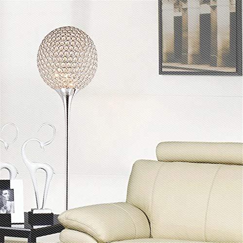 CuteLife Lámpara de Piso Lámpara de Piso de Cristal de la Bola del vestíbulo clásico LED de la Bombilla LED Opcional Plata de Oro Bola de Oro para Sala de Estudio de Oficina
