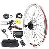 Kit de conversión para bicicleta eléctrica de 26 pulgadas, 350 W, 36 V