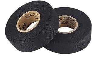 YUEMING 2 pezzi nero nastro adesivo,Nastro telato Nastro Adesivo Duct Tape, Nero (19mm*15m)