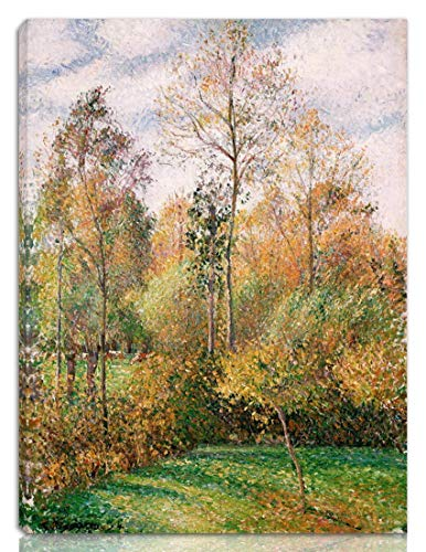 Vintage Look Reproduction tin Signs 12x16inches,Camille Jacob Pissarro Fine Art Wall Decor(Autumn Poplars Eragny,Best in Metal Sign Retro Home Decoration Vintage Tin Sign for Bar Pub Home