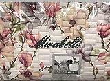 Mirabello COPRILETTO Trapuntato Matrimoniale 270X260 CM, Raso di Cotone, Bianco, Art.Elegant Flowers