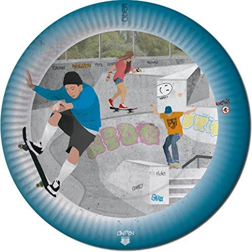 DH-Konzept 8 Pappteller im * Skateboard * für Party und Geburtstag Feier Fete Set Skater Teller Partyteller Skatepark