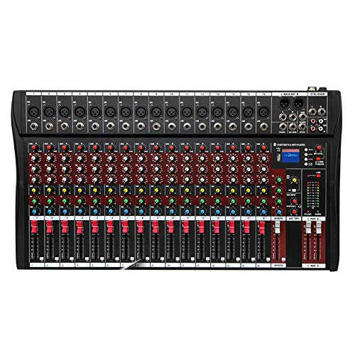 Fineshine 8/12/16 Channel Audio Mixer Sound Mixing Console with Bluetooth USB,PC...
