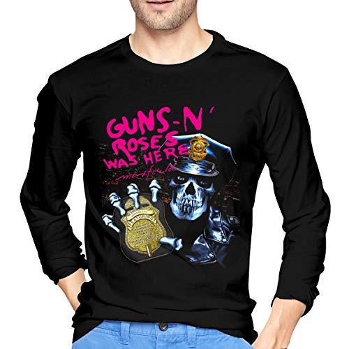 Gun N' Roses T-Shirt Men's Long Sleeve Cotton Tee Shirt Classic Round Neck Tops XL