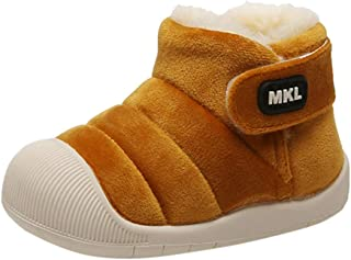 Orfilaly Infant Baby Suede Faux-Fur Lined Warm Winter Snow Boots Boy Girls First Walker Shoes Casual Flat Anti Slip Crib Boot