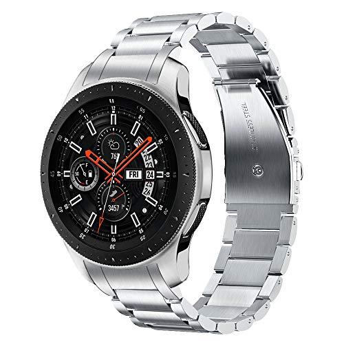 V-MORO Gear S3 Frontier/Gear S3 Classic Armband/Galaxy Watch 46mm Armband 22mm (Metall Silber) Keine Lücke Solider Edelstahl Metall Ersatz Bracelet Strap Band Uhrenarmband für Gear S3 Frontier Armband