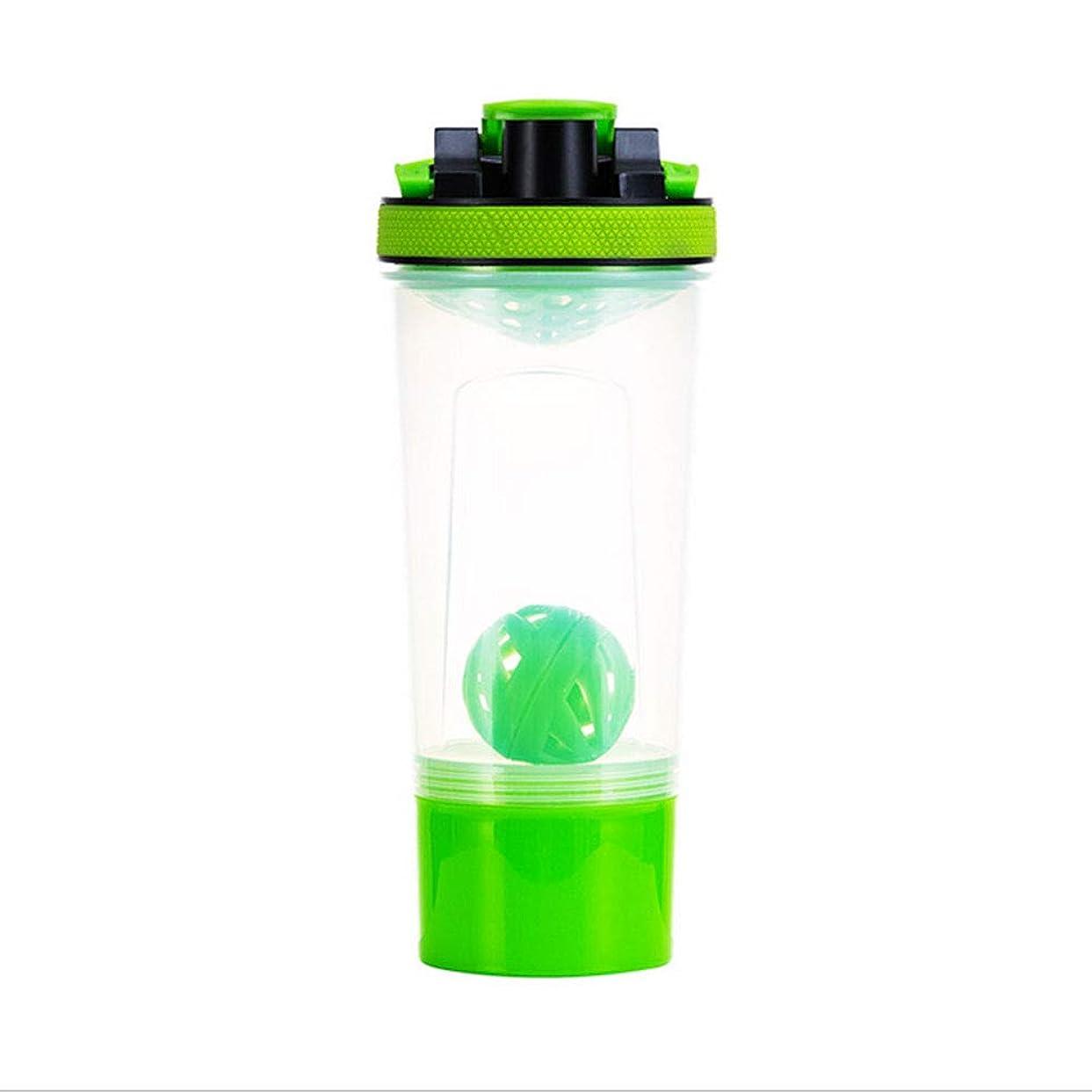 高める骨部分的にQuner プロテインシェイカー ボトル 水筒 700ml シェーカーボトル スポーツボトル 目盛り 3層 プラスチック フィットネス ダイエット コンテナ付き サプリケース