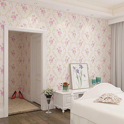 SXBB papel tapiz no tejido 4d estéreo no tejido flor grande dormitorio...