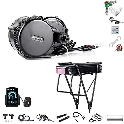 Bafang Electric Bike Mid Drive Motor Motor Medio de manivela BBS02B 36V 500W DIY Kit de conversión de Bicicleta sin o con batería de Cuadro 15.6/19.2/21/22.5Ah o batería Trasera 20/22.5Ah