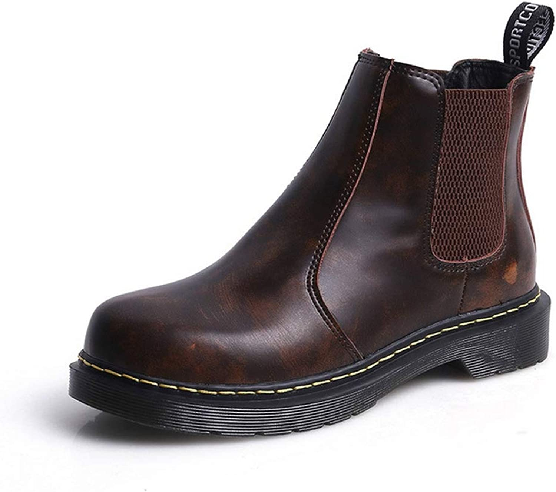 JOYBI Womens Fashion Waterproof Chelsea Boots Slip On Winter Warm Vintage Lady Round Toe Ankle Booties