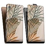 DeinDesign Étui Compatible avec Sony Xperia Z5 Étui à Rabat Étui magnétique Abstrait Line Art...