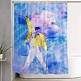 Queen Rock Band Mercury Vorhang Badezimmer Pflicht Wasserdicht Duschvorhang Liner klar & beständig-M