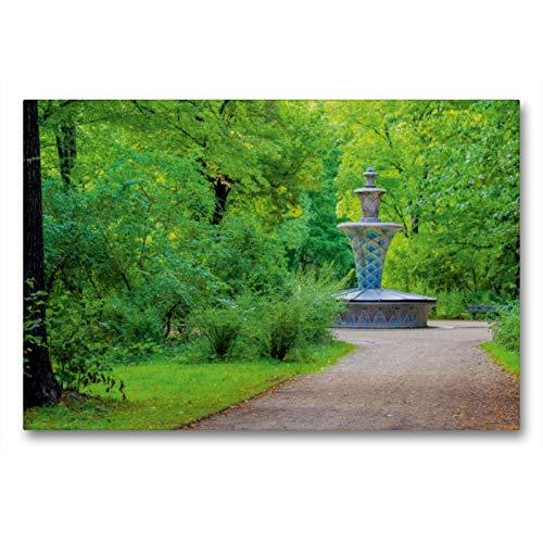 Premium Textil-Leinwand 90 x 60 cm Quer-Format Mosaikbrunnen | Wandbild, HD-Bild auf Keilrahmen, Fertigbild auf hochwertigem Vlies, Leinwanddruck von LianeM