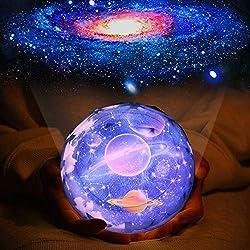 Kinder Nachtlicht Sternenhimmel Projektor - 360-Grad Drehung LED Sternenprojektor Baby mit 7 Gruppen Film, Kinder Nachtlampe Sternenhimmel Sternenlicht Projektor Baby Geschenke für Kinder