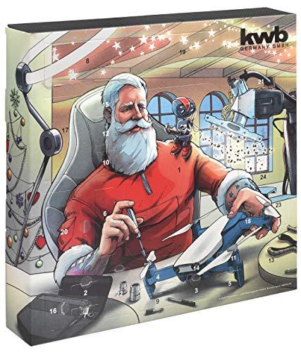 kwb 370210 Premium Adventskalender 2020 mit Gewinn-Chance-Weihnachts-Kalender für Mann und Frau, Qualitäts Werkzeug-Set inkl. Flaschenöffner in Steckschlüssel-Design und hochwertiger Tasche, Version