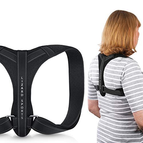 Lizard Sports zertifizierter Rücken Geradehalter mit Qualitätsmanagementsystem für Medizinprodukte Haltungskorrektur optimal für Büromitarbeiter Damen und Herren Brustumfang 71-107 cm