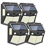 【2020年最新版】Focondot センサーライト ソーラーライト 160LED 2センサー 4面発光 人感センサー 屋外照明 防水 防犯ライト 300°照明範囲 自動点灯 屋外 庭 玄関 駐車場 ガーデンライト 4個セット 昼白色
