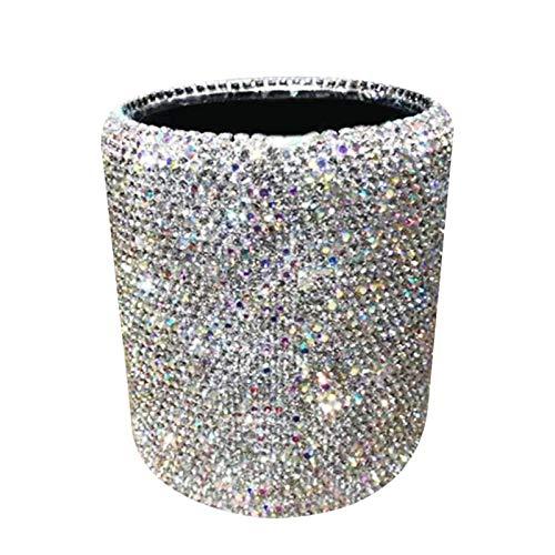 Organizador Escritorio,Lapiceros,Titular Pluma,Portalápices,Soporte para bolígrafo Bling Bling Spark Crystal Pincel de maquillaje Ceja Lápiz Organizador Soporte Caja de taza para uso de oficina