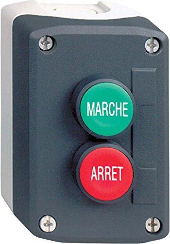 Schneider Electric XALD224 Harmony Caja con 2 Botones Pulsadores, 22 mm Diámetro del Botón, Potencia Verde 1