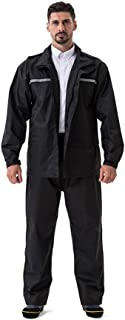 Anyoo Waterproof Rainsuit Set High Vis Visibility Jacket & Trouser Rainwear for Men Women