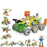 MOONTOY STEM Costruzioni Giocattolo per Bambini e Bambine dai 5 Ai 10 Anni, 175 Pezzi per Costruire Il Tuo Veicolo Blocchi di Plastica Componibili, Ottimo Regalo, con 11 Modelli Diversi