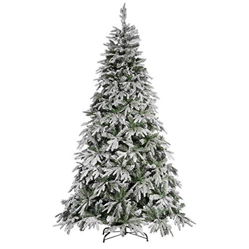 Mazzeo Albero di Natale 240 cm Carpino Bianco innevato Neve Artificiale e folto
