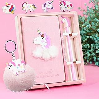 foci cozi Unicorn Journal Gel Pens Stationery Set Pendant Unicorn Key Ring-Lovely Birthday Unicorn Gifts for Girls of All ...