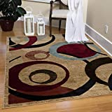 Ottomanson Royal Collection Area Rug, 5' X 7', Beige Circles