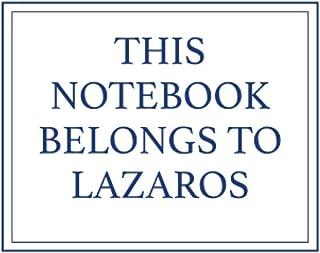 This Notebook Belongs to Lazaros