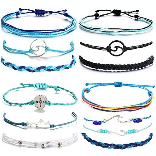choice of all Summer String Bracelets Waterproof Bracelet for Women Girls Friendship Strand Bracelet for Boys Jewelry(D)