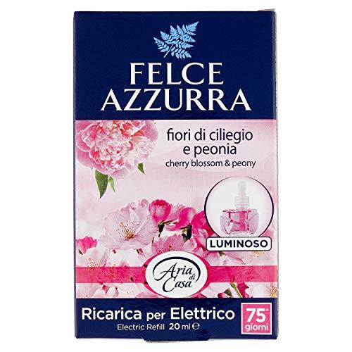 Felce Azzurra ricarica Deo ambiente eléctrico Aroma Talco & flores de cerezo–Paquete de 1x 20ml–Total: 20ml