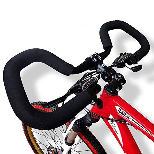 Manubrio Bici con Schiuma Spugna Mountain Road Bike 25,4/31,8 * 580 Mm Bicicletta Bici Ad Ingranaggi Fissi Ricostruzione in Alluminio Fly Butterfly Copertura Manubrio (25.4x580,Without Tube)