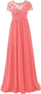 Chiffon Mother of The Bride Dresses Plus Size Long Evening Formal Dress Lace Mothers Gown