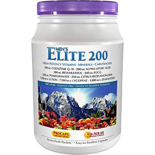 Andrew Lessman Multivitamin - Men's Elite-200 120 Packets – 40+ Potent Nutrients Plus 200mg Each of Coenzyme Q10, Alpha Lipoic Acid, Resveratrol, EGCG, Pomegranate, Citrus Bioflavonoids. No Additives