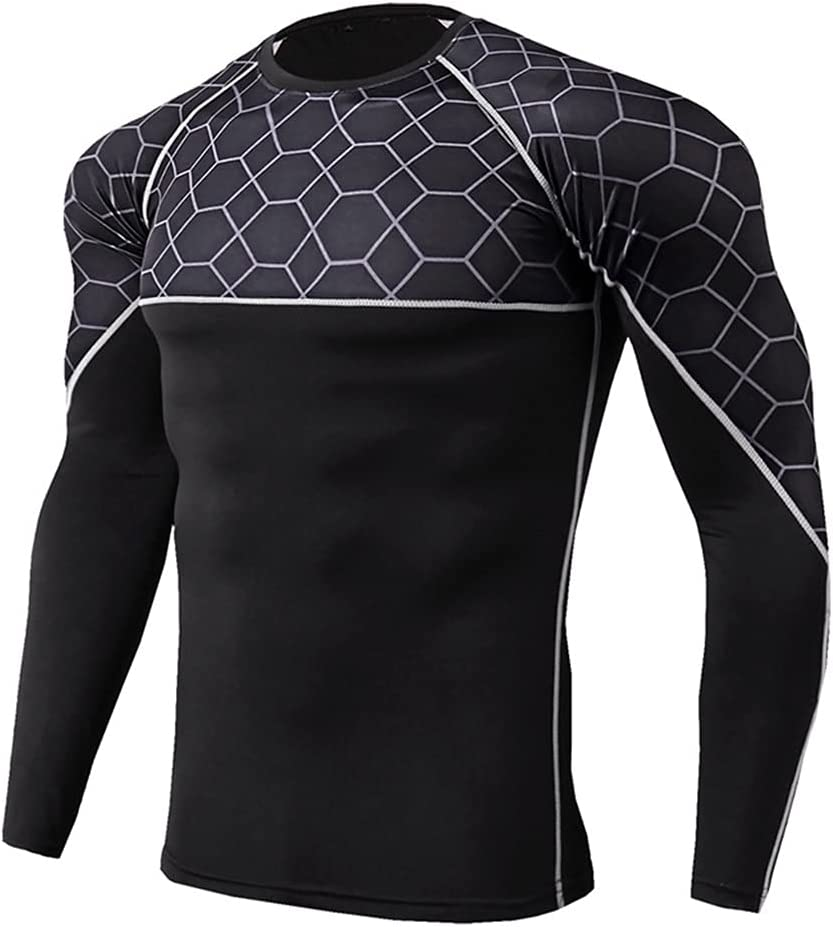 GYZCZX Thermal Underwear for Men Camiseta Sport Tight Shirt Men's Underwear Hombre Quick-Dry Ropa Interior Hombre (Color : A, Size : L Code)