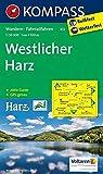 KOMPASS Wanderkarte Westlicher Harz: Wanderkarte mit Aktiv Guide und Radwegen. GPS-genau. 1:50000 (KOMPASS-Wanderkarten, Band 451)