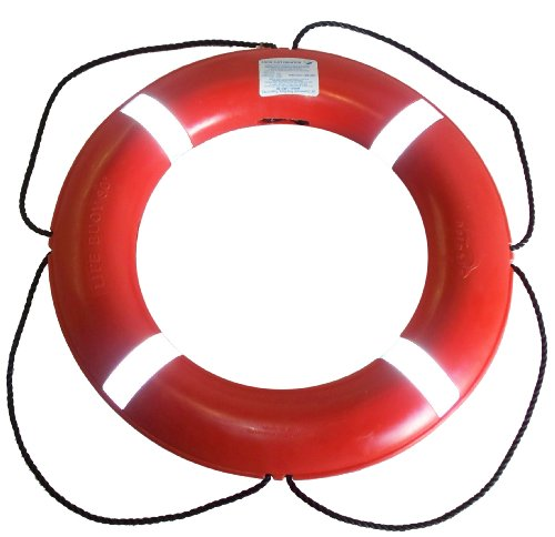 Dock Edge + Inc. USCGA Approved S.O.L.A.S. Life Ring Buoy (Orange, 30-Inch)