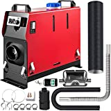 Happybuy 5KW Diesel Air Heater All in One 1 Air Outlet Diesel Heater 12V Remote Control Parking Heater Silencer with Voice Broadcast Switch for RV Trucks Bus and Trailer