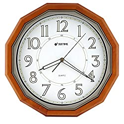 15 Inch Elegant 16 Angle Solid Wood Quality Luminous Glow Dial Quartz Wall Clock Home Decor (WW0312)