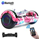 CBD Hoverboard for Kids, 6.5' Electric Self Balancing Scooter, Hoverboard with Bluetooth Speaker and LED Lights for Adults, UL 2272 Certified Bluetooth Graffiti Hoverboard