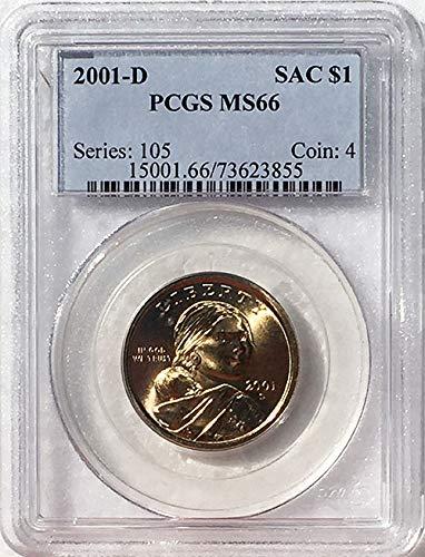 2001 D Sacagawea Dollar MS 66 Blue Label PCGS
