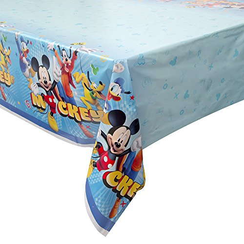 "Unique Disney Mickey Roadster Rectangular Plastic Table Cover, 54""x84"""