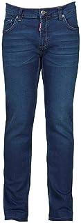 PAYPER Los Angeles Pantalone da Uomo Taglio Jeans Misto Denim Tasche Laterali Chiusura con Zip Gamba Slim Effetto Consumato