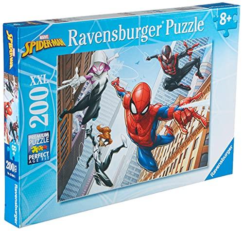 Ravensburger - Marvel Spiderman Rompecabeza de 200 Piezas XXL, 8+ Años, Multicolor (Ravensburger 12694)